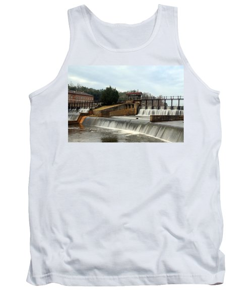 Tank Top featuring the photograph Prattville Dam Prattville Alabama by Charles Beeler