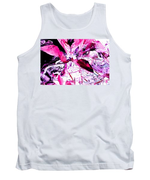 Tank Top featuring the photograph Pretty Pink Weeds 5 by Marianne Dow