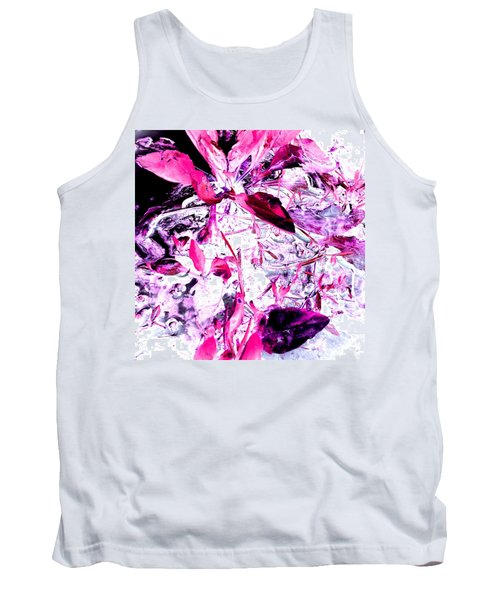 Tank Top featuring the photograph Pretty Pink Weeds 6 by Marianne Dow