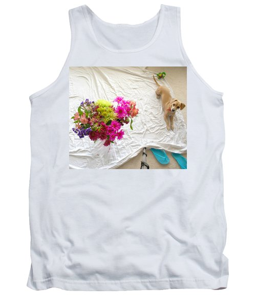 Tank Top featuring the photograph Princess On Assignment by Angela J Wright