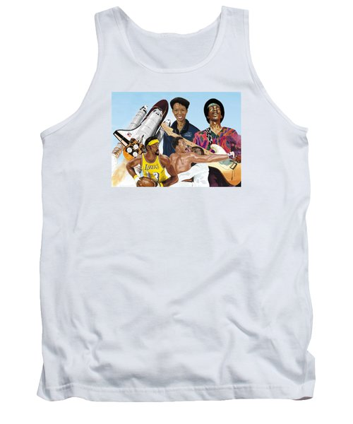 Jimi, Muhammad Ali, Wilt Chamberlain And Mae Carol Jemison Tank Top