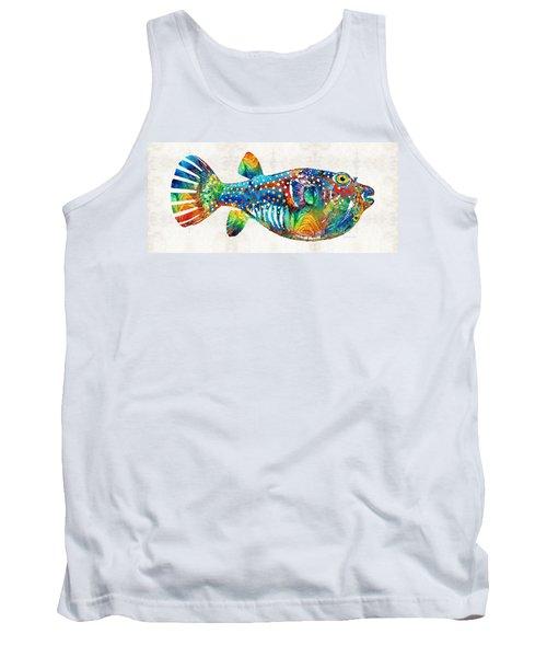 Puffer Fish Art - Blow Puff - By Sharon Cummings Tank Top