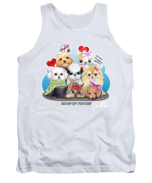 Puppies Manifesto Tank Top by Catia Cho