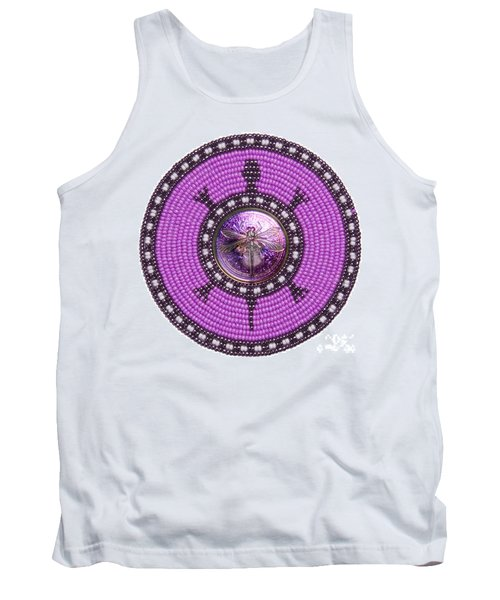 Purple Dragonfly Tank Top