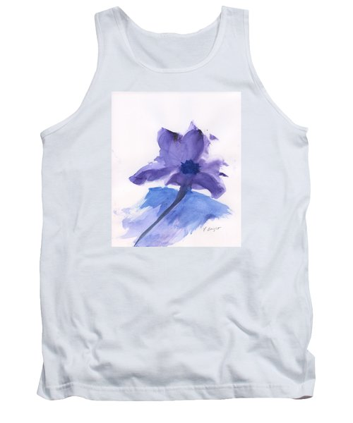 Purple Flower Tank Top by Frank Bright