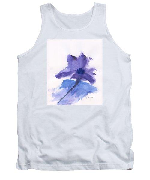 Purple Flower Tank Top