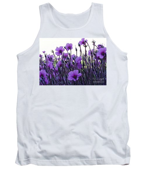 Tank Top featuring the photograph Purple Flowers Dance by Jasna Gopic