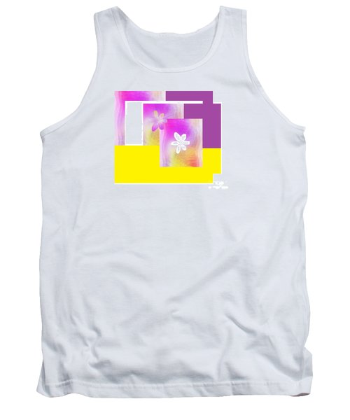 Purple Glow Flower Tank Top