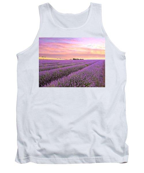 Purple Haze - Lavender Field At Sunrise Tank Top