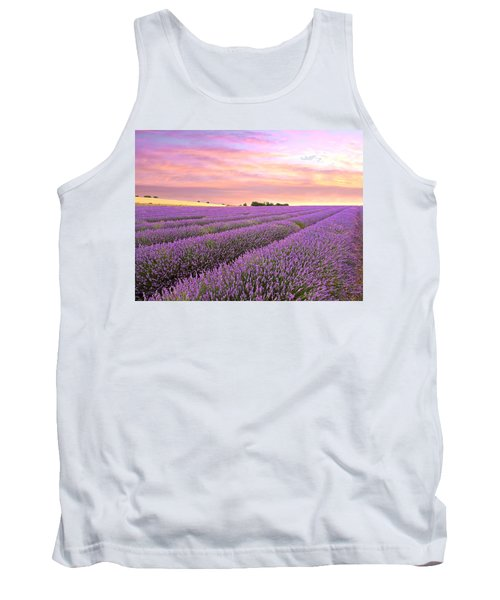 Purple Haze - Lavender Field At Sunrise Tank Top