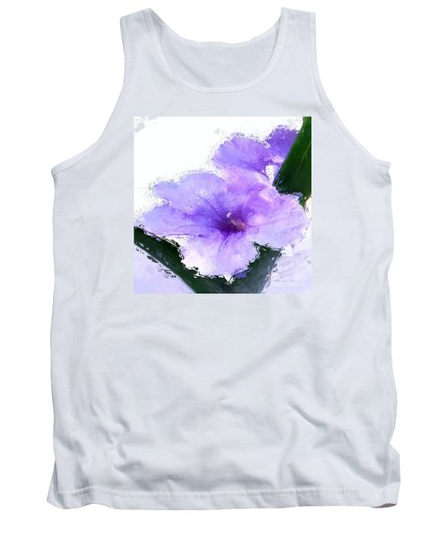 Tank Top featuring the digital art Purple Petunia by Anthony Fishburne
