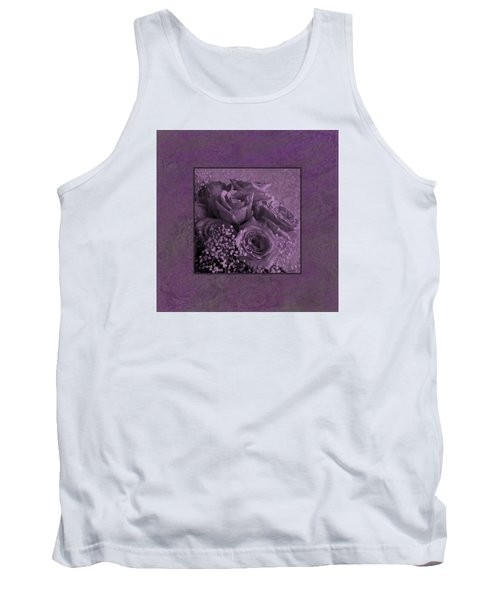 Tank Top featuring the photograph Purple Roses Delight by Sandra Foster