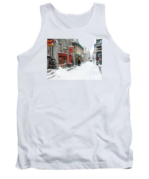 Quebec City In Winter Tank Top by Thomas R Fletcher