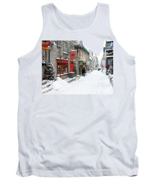 Quebec City In Winter Tank Top