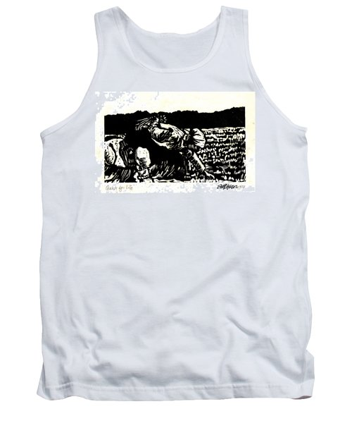Tank Top featuring the relief Quest For Life by Seth Weaver
