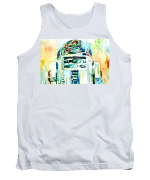 R2-d2 Watercolor Portrait Tank Top