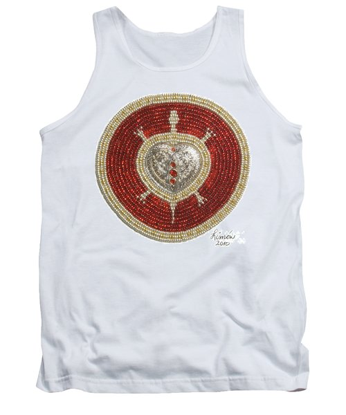 Silver And Gold Heart Turtle Tank Top