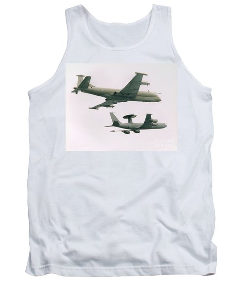 Tank Top featuring the photograph Raf Nimrod And Awac Aircraft by Paul Fearn