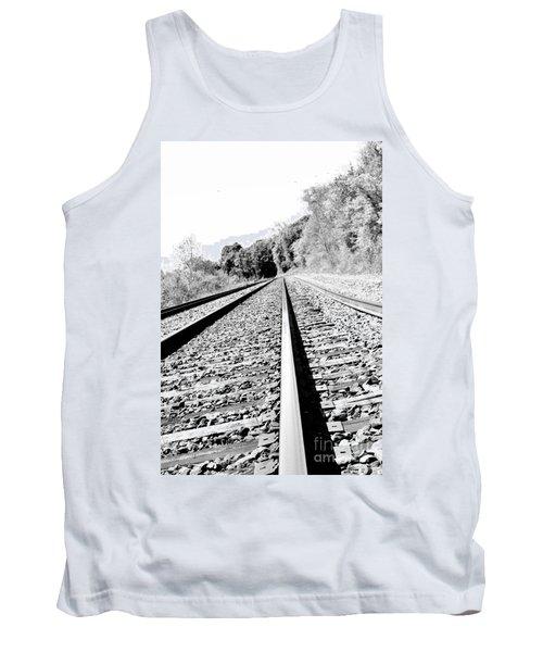 Tank Top featuring the photograph Railroad Track by Joe  Ng