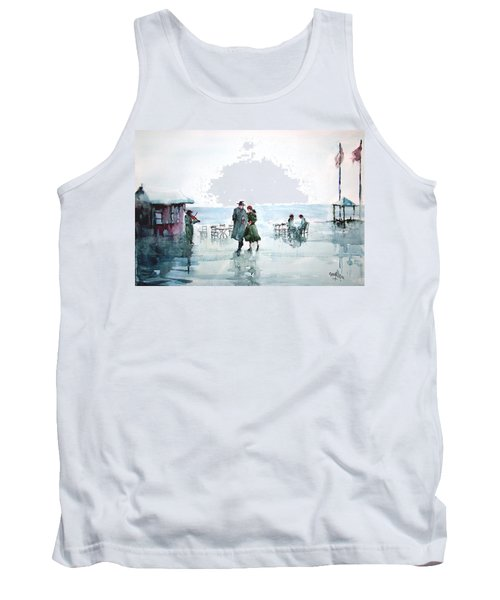 Tank Top featuring the painting Rain Serenad - Moments Of Life... by Faruk Koksal