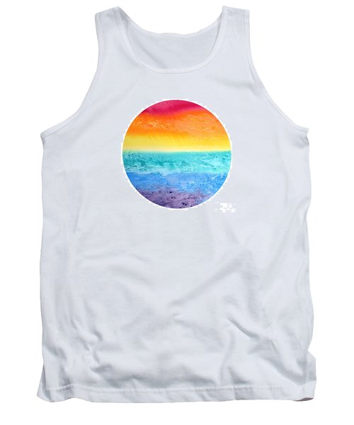 Tank Top featuring the painting Rainbow Landscape  by Susan  Dimitrakopoulos