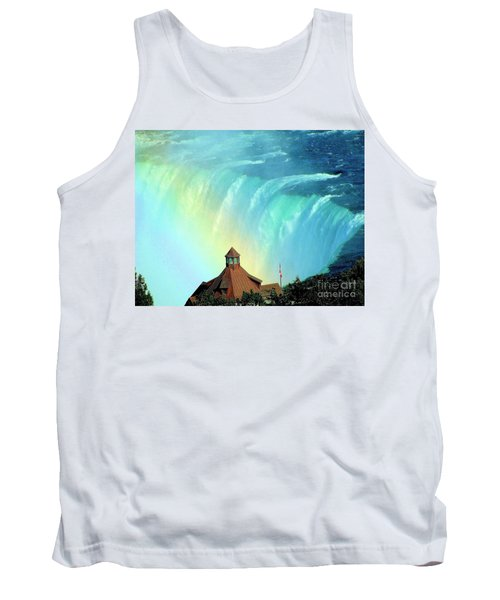 Tank Top featuring the photograph Rainbow Over Horseshoe Falls by Janette Boyd