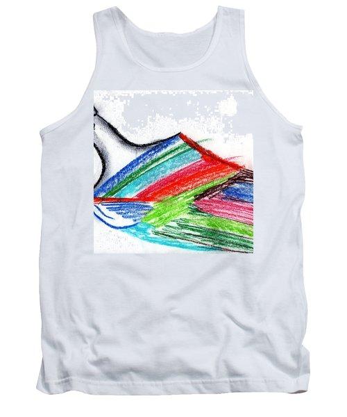 Rainbow Paintbrush Tank Top