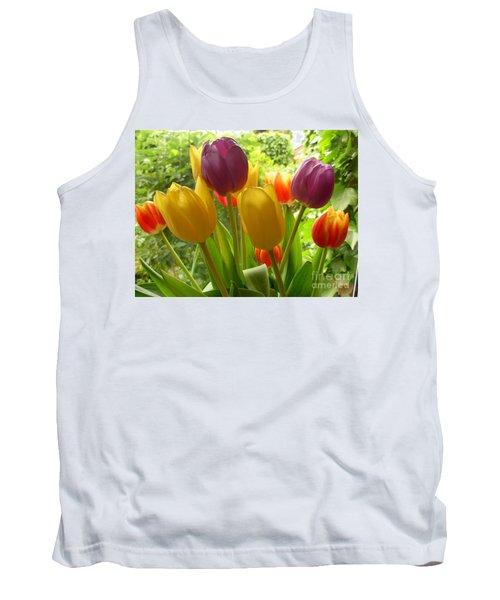 Rainbow Tulips  Tank Top