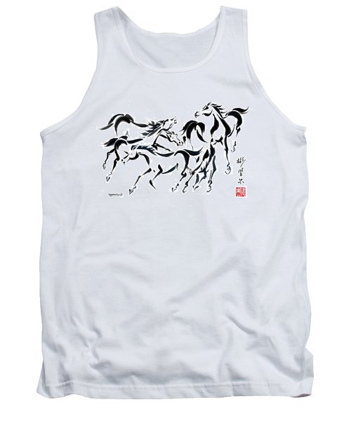 Tank Top featuring the painting Rambunctious by Bill Searle