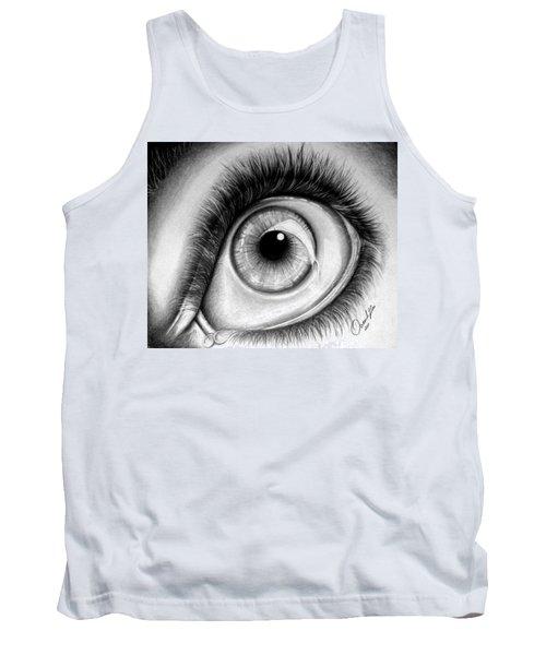 Realistic Eye Tank Top