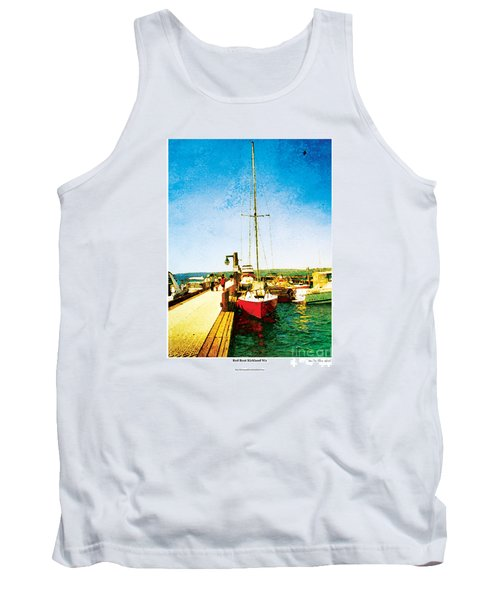 Red Boat Tank Top by Kenneth De Tore
