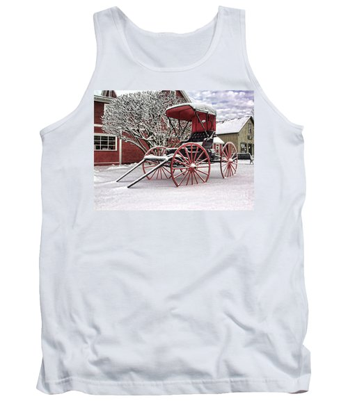 Tank Top featuring the photograph Red Buggy At Olmsted Falls - 1 by Mark Madere