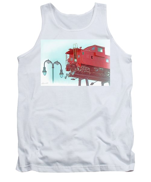 Red Caboose In The Sky2 Tank Top