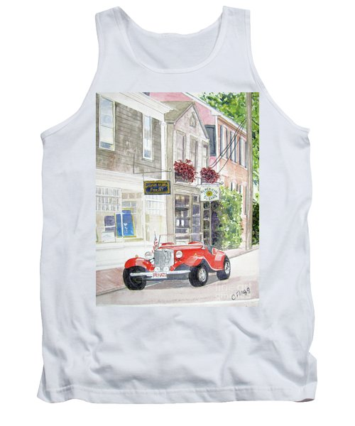 Red Car Tank Top