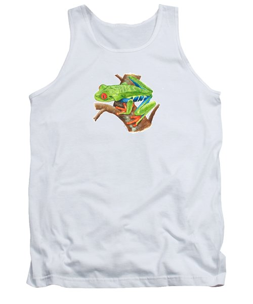Red-eyed Treefrog Tank Top by Cindy Hitchcock