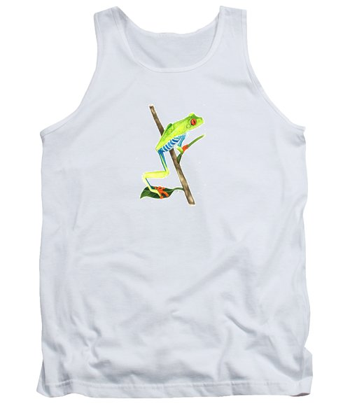 Red-eyed Treefrog From La Selva Tank Top by Cindy Hitchcock