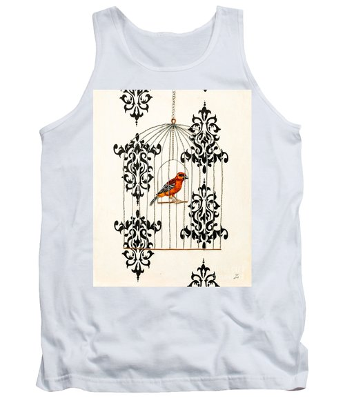 Red Finch Tank Top by Stefanie Forck