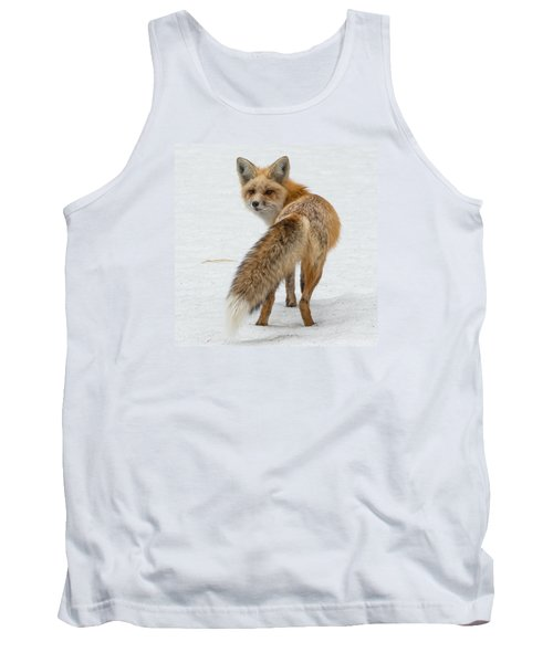 Tank Top featuring the photograph Red Fox Of Silver Gate by Yeates Photography