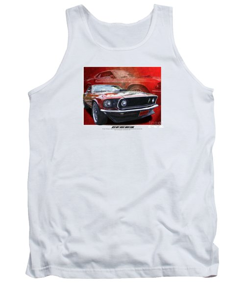 Tank Top featuring the photograph  Boss Mustang by Kenneth De Tore