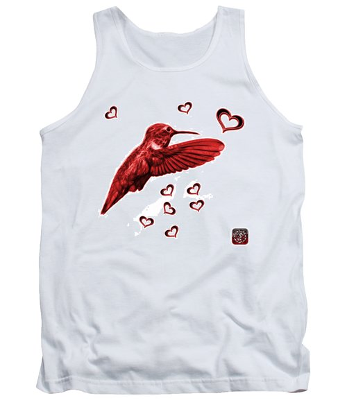 Tank Top featuring the digital art Red Hummingbird - 2055 F S M by James Ahn