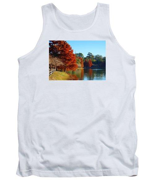 Red Pine On Lake Ella Tank Top