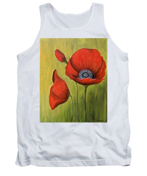 Red Poppies Tank Top