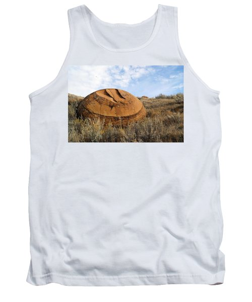 Red Rock Coulee I Tank Top by Leanna Lomanski