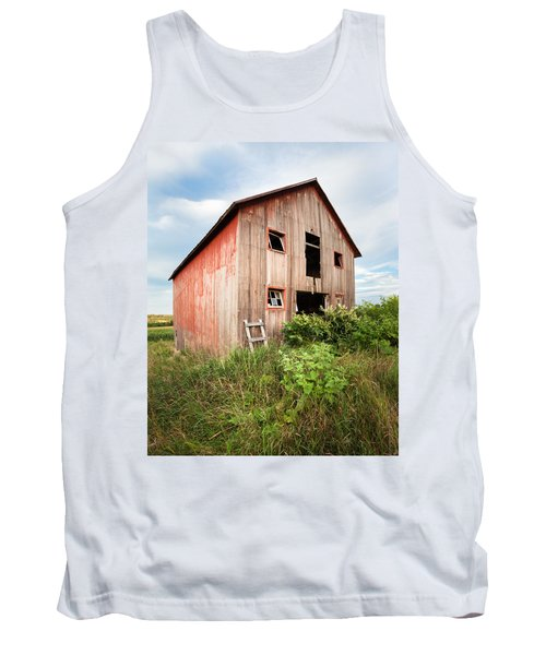 Tank Top featuring the photograph Red Shack On Tucker Rd - Vertical Composition by Gary Heller