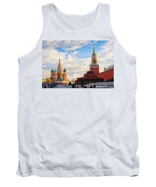 Red Square Of Moscow - Featured 3 Tank Top by Alexander Senin