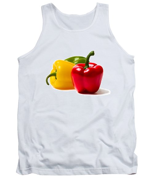Red Sweet Pepper - Square Tank Top by Alexander Senin