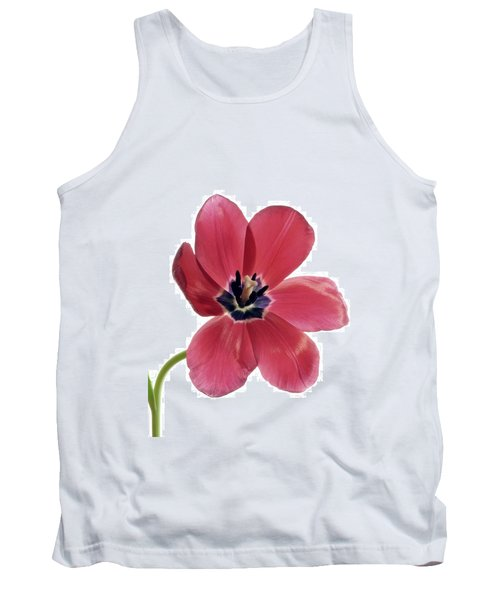 Red Transparent Tulip Tank Top