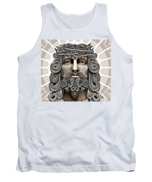Redeemer - Modern Jesus Iconography - Copyrighted Tank Top by Christopher Beikmann