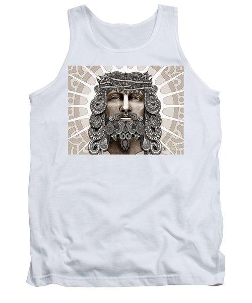 Redeemer - Modern Jesus Iconography - Copyrighted Tank Top