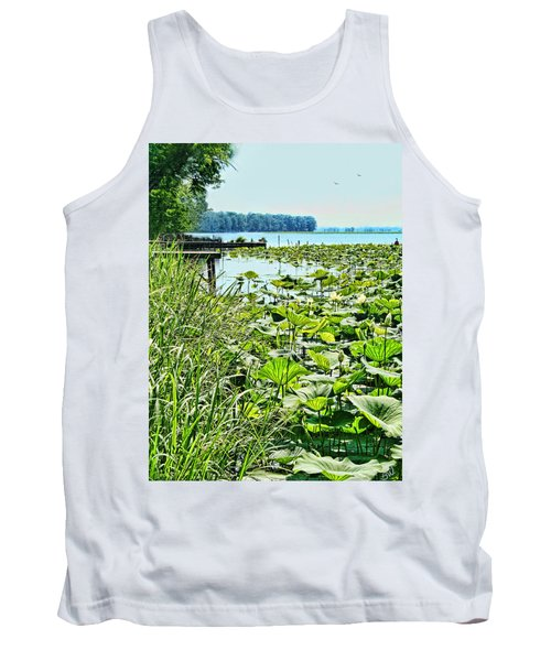 Reelfoot Lake Lilly Pads Tank Top